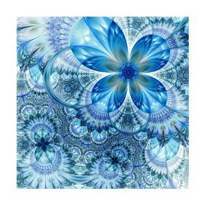 Colorful Fractal Flower Pattern by fbatista72