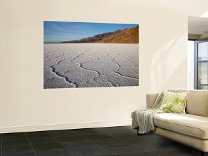 Polygonal Salt Formations at Badwater Basin, on Floor of Death Valley by Feargus Cooney