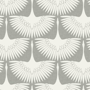 Feather Flock Chalk Self-Adhesive Wallpaper