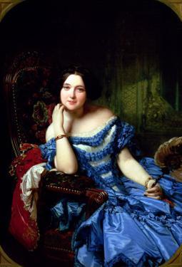 Portrait of Amalia De Llano U Dotres (1821-74), Countess of Vilches, 1853 by Federico de Madrazo y Kuntz