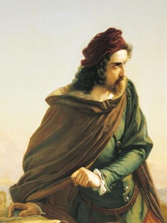 Cola di Rienzo Contemplating the Ruins of Ancient Rome