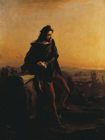 Cola Di Rienzo, Contemplating the Ruins of Rome from Above, 1855