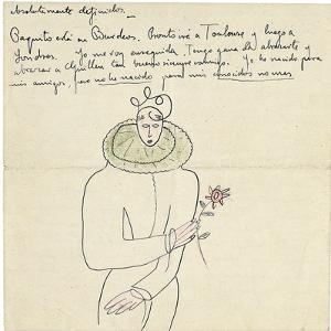 Autograph Letter to Melchor Fernandez Alamgro, Granada, Late January 1926 by Federico Garcia Lorca