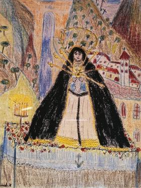 The Virgin of Seven Daggers, Drawing by Federico Garcia Lorca