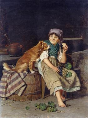 Girl with Dog by Federico Mazzotta