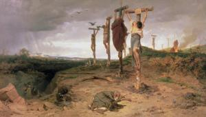 The Damned Field, Execution Place in the Roman Empire, 1878 by Fedor Andreevich Bronnikov