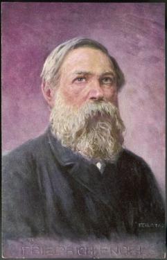 Friedrich Engels German Political Theorist by Feiertag