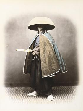 A Japanese Samurai in Traditional Costume, C.1868 (Hand Tinted Albumen Print) by Felice Beato