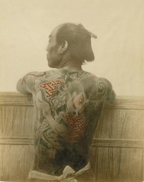 A Man with Tattoo by Felice Beato