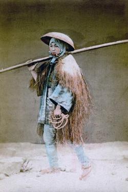 Coolie in Winter Dress, Japan, 1882 by Felice Beato