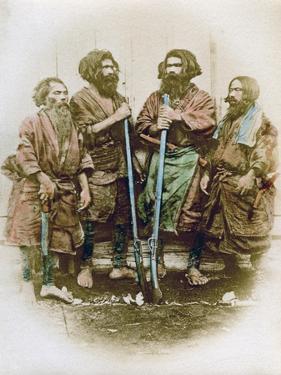 Group of Ainu People, Japan, 1882 by Felice Beato
