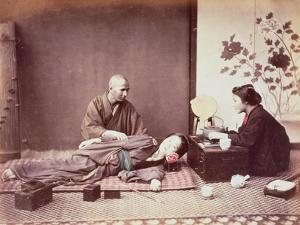 Japanese Masseur, c.1890 by Felice Beato