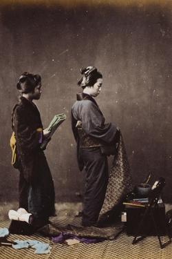 Japanese Women Dressing, C.1870-1880 by Felice Beato