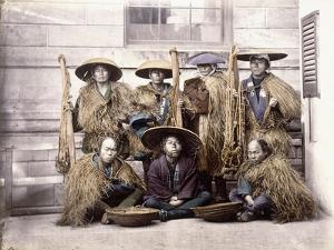 Japanese Yakonin in Dress of Ceremony, C.1868 by Felice Beato