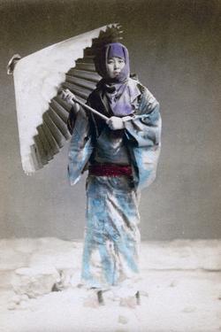 Museme, Woman in Winter Costume, Japan, 1882 by Felice Beato