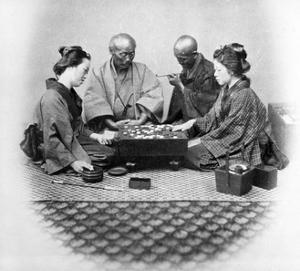 Playing Go, C.1860s by Felice Beato
