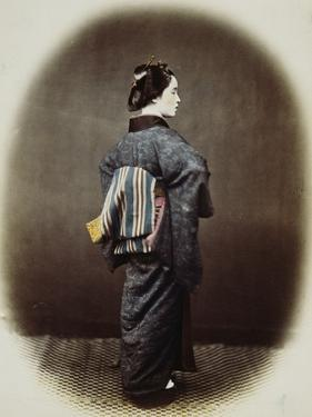 Portrait of a Japanese Woman by Felice Beato
