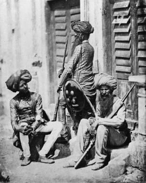 Sikh Officers During the Indian Rebellion, 1858 by Felice Beato