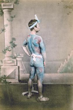 Tattooed Japanese Groom (Bett), Japan, 1882 by Felice Beato