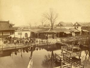 Tea House of Yu Garden in Shanghai (China) by Felice Beato