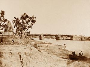The Iron Bridge, Lucknow by Felice Beato