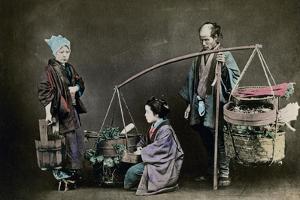 Vegetable Pedlar, Japan, 1882 by Felice Beato