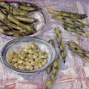 Preparing Broad Beans by Felicity House