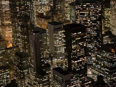New York City at Night by Felipe Rodriguez