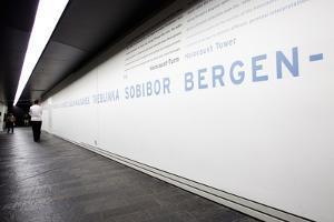 Visitors in Holocaust Museum by Felipe Rodriguez