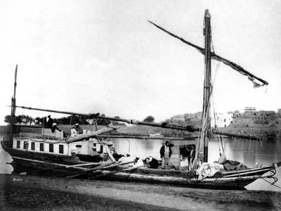 Boat on the Nile, Egypt, 1878