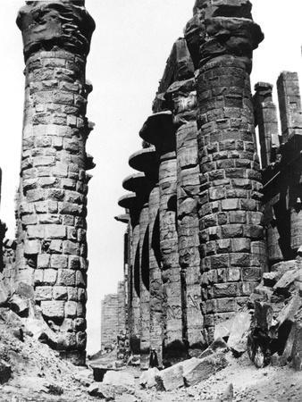 Colonnade, Hypostyle Hall, Egypt, 1878