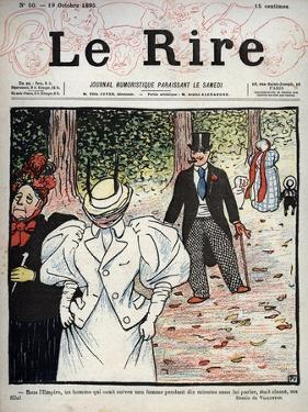 Cover of the newspaper Le Rire, n°50, October 10, 1895 by Felix Edouard Vallotton