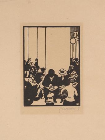 Five O'Clock, The World's Fair IV, 1901 by Felix Edouard Vallotton