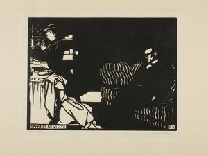 Getting Ready for a Visit, Plate Eight from Intimacies, 1898 by Felix Edouard Vallotton