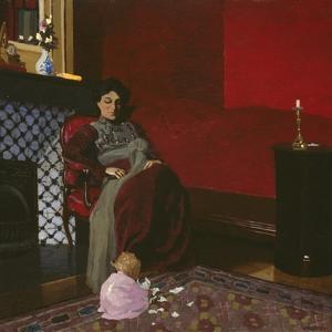 Madame Vallotton and Her Niece, Germaine Aghion, 1899 by Felix Edouard Vallotton