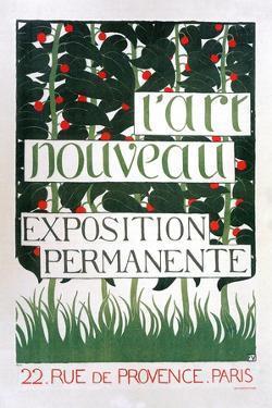 Poster for the Gallery L'Art Nouveau, Paris, 1896 by Felix Edouard Vallotton