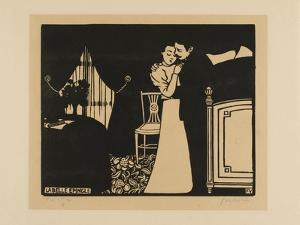 The Fine Pin, Plate Three from Intimacies, 1898 by Felix Edouard Vallotton