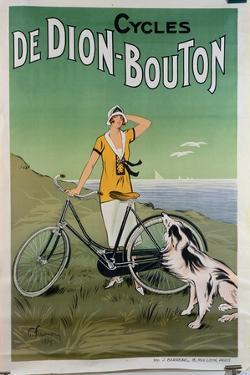 Poster Advertising the 'De Dion-Bouton' Cycles, 1925 by Felix Fournery