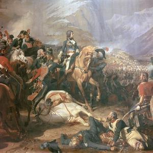Painting of Napoleon at the Battle of Rivoli, 18th Century by Felix Henri Emmanuel Philippoteaux