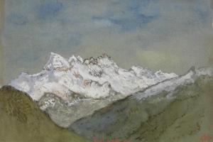 Dents Du Midi, 1882 by Felix Hilaire Buhot