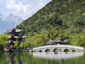 Bridge and Pavilion at Black Dragon Pool Park (Heilongtan Gongyuan) by Felix Hug
