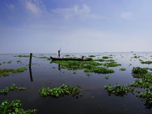 Canoe on Kerala's Backwaters by Felix Hug