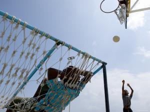 Kids Playing Basketball, Male, Kaafu, Maldives by Felix Hug