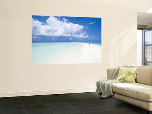 Morning Jogger on Sandbank, Kuramathi Island, Rashdoo Atoll, Alifu, Maldives by Felix Hug