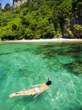 Woman Snorkelling at Maya Bay by Felix Hug