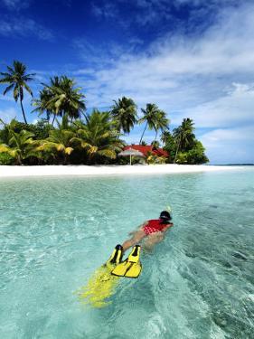Woman Snorkelling, Kurumba Island, North Male Atoll, Kaafu, Maldives by Felix Hug