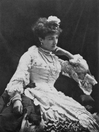 Sarah Bernhardt, French Actress, C1865
