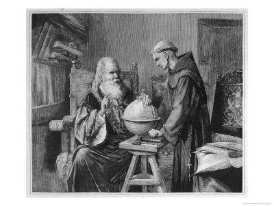 Galileo Galilei Demonstrates His Astronomical Theories to a Monk