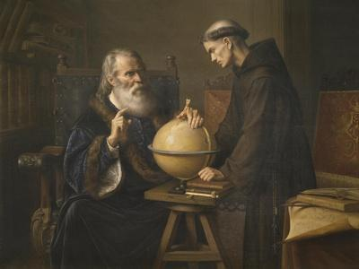 Galileo Galilei Demonstrating His New Astronomical Theories at the University of Padua