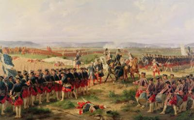 Battle of Fontenoy, 11 May 1745: The French and Allies Confronting Each Other by Felix Philippoteaux